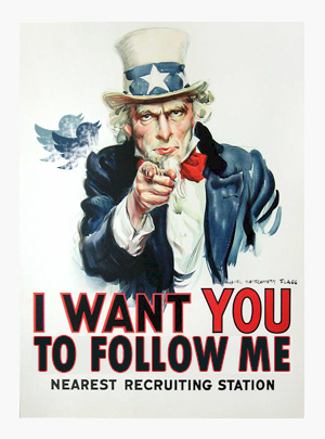 I want you to follow me on Twitter