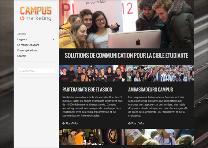 campus marketing home